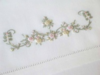 French Scroll - Pink, Sage and Lemon
