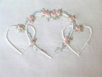 Linked Hearts - Pink, Sage and White